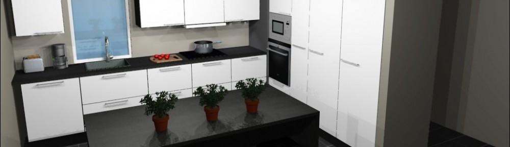 Fiilistelykuvaa keittiöstä.